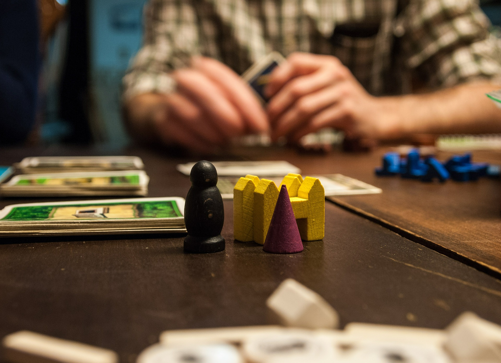 People playing a board game.